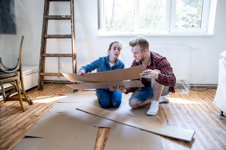 A lakásfelújítás folyamata.